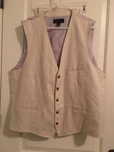 International Concepts Men's Business Suit Vest Sz XXL Beige - $67.20