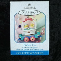 Hallmark Keepsake Ornament Flatbed Car Cottontail Express Handcrafted 1999 - $14.84