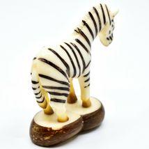 Hand Carved Tagua Nut Carving Zebra Figurine Made in Ecuador image 3