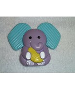 KIDS II VINTAGE 1995 ELEPHANT BABY TEETHER TEETHING TOY PURPLE BANANA RA... - $16.82