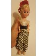 Vintage Plastic female Doll • Eyes Open Close • blue eyes • clothing loo... - $14.85