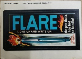 1974/ 6th S TOPPS WACKY sticker Flare Light Up and Write Up Favorite of Firemen - $1.95