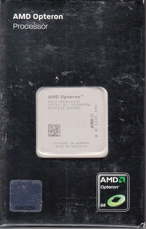 Primary image for AMD 3RD GEN OPTERON 2378 QUAD CORE 2.4GHZ 2MB L2 6MB L3 SOCKET FR2 - NEW!