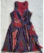 Nanette Lepore Silk Go Getter Dress Lilac multi colored dress in size 8 ... - $87.12
