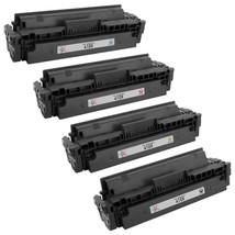 Set of 4 HP 410X Compatible Laser Toner Cartridges, (Black, Cyan, Magent... - $233.44