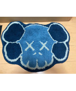 Kaws Original Fake x G1950 Skull Rug Mat ORIGNAL FAKE Blue Color Rare Used - $665.99