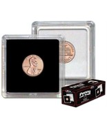 (10) BCW 2 x 2 COIN SNAPS - PENNY - BLACK - $7.31