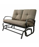 Outdoor Patio Loveseat Cushioned Garden Yard Lounge Glider Bench Rocking... - $169.99
