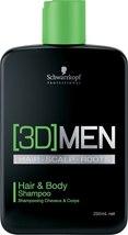 Schwarzkopf 3D Men Hair & Body Shampoo Shampoo 250 ml - $36.00
