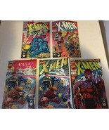 X-Men #1 1991 Marvel Comic Book Variant Cover Lot Of 5 NM/M 9.2 Or Bette... - $20.69