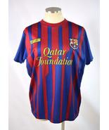 FCB QATAR Barca Unicef Red Blue Soccer Football Jersey Shirt FC Barcelon... - $24.74