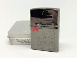 Rare! Unused ZIPPO 2000 Marlboro Limited Novelty Logo Lighter Black Ice / Red - $100.00