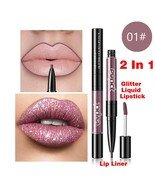 BAHYHAQ - 2 in 1 Dust Long lasting Lipliner and lipstick Waterproof Stic... - $3.55