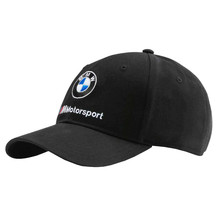 PUMA BMW M Motorsport BB Sports Car Black Dad Cap Logo Strap Back Baseball Hat image 1