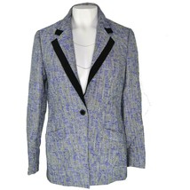 Anne Klein Womens Collared Lapel Blazer One Button Front Lilac Combo Sz ... - $21.96