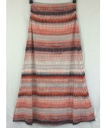 Synthia Rowley Geometric Striped Stretchy Jersey Skirt Strapless Maxi Dr... - $15.40