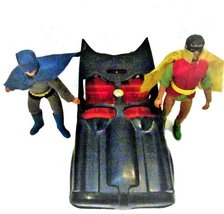 "Vintage MEGO 1974 8"" BATMAN AND ROBIN with Batmobile - $119.95"