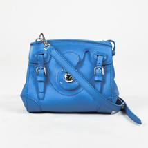"Ralph Lauren Blue Leather Mini ""Ricky"" Crossbody Bag - $600.00"