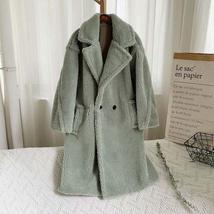 Luxury Fashion Leopard Long Thick  Faux Fur Teddy Bear Coat image 6