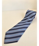 Men's ties by Van Heusen classic bold striped blue on blue necktie - pol... - $7.69
