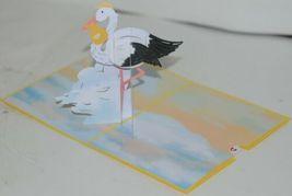 Lovepop LP2078 Stork Pop Up Slide Out Note Card White Envelope Cellophane Wrap image 3