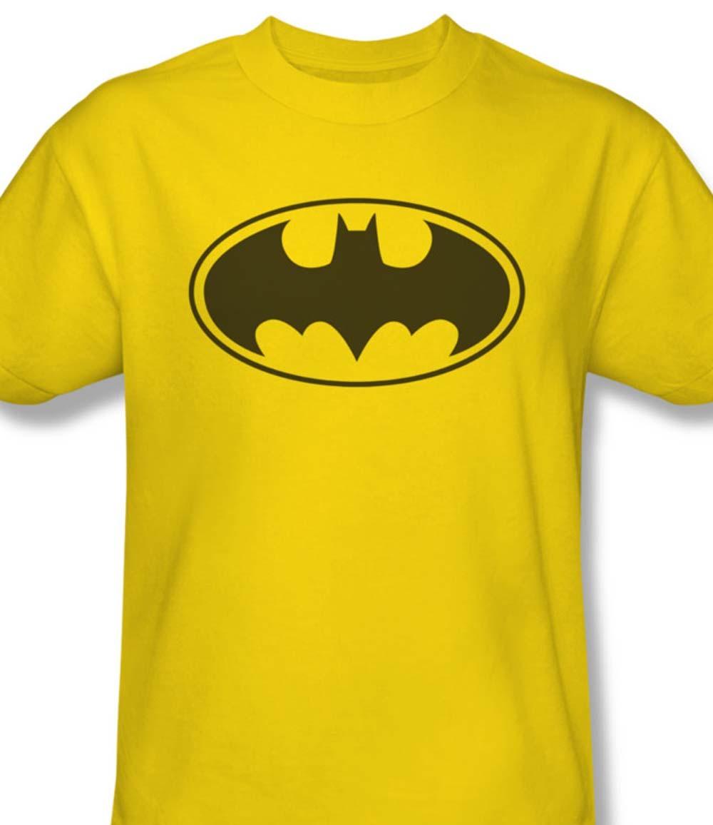 Bm2201 at batman logo yellow gotham city graphic tshirt