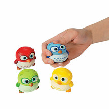 Lot of 4 OWL Stress Ball Foam Squishy Toy Green Red Yellow Blue Children's - $8.24