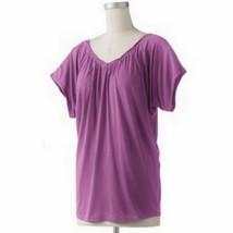 LC Lauren Conrad Magenta Pink Shirred Dolman Knit Top Beyond The Waves - $19.99