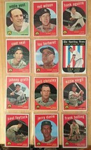 1959 Topps Baseball Card Lot of 12 Detroit Tigers VG/VG+ Condition RF1 - $15.99