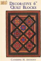 """Decorative 6"""" Quilt Blocks with 34 Unique Designs Quilt Craft Book - $8.99"""