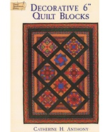 "Decorative 6"" Quilt Blocks with 34 Unique Designs Quilt Craft Book - $8.99"