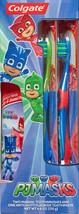 Colgate Kids PJ MASKS Gift Set Two Manual Toothbrushes fluoride Toothpaste 4.6OZ image 2