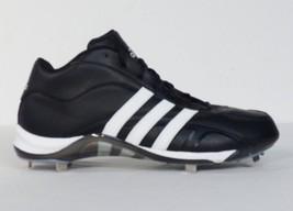 Adidas Signature Black & White Baseball Cleats Softball Shoes Mens NEW - $48.74