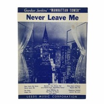 Vintage 1956 Manhattan Tower Never Leave Me Manhattan Skyline NYC Sheet ... - $13.96