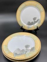 Ruby Fine Porcelain leaf Multicolored Dinner Plates (set Of 4) - $39.55