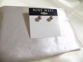 Nine West 7mm Silver Tone Ball Stud Earrings E940 - $8.63