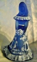 Fenton Bridesmaid Doll Figurine Satin Blue Hand Painted By Martha Reynolds - $177.64