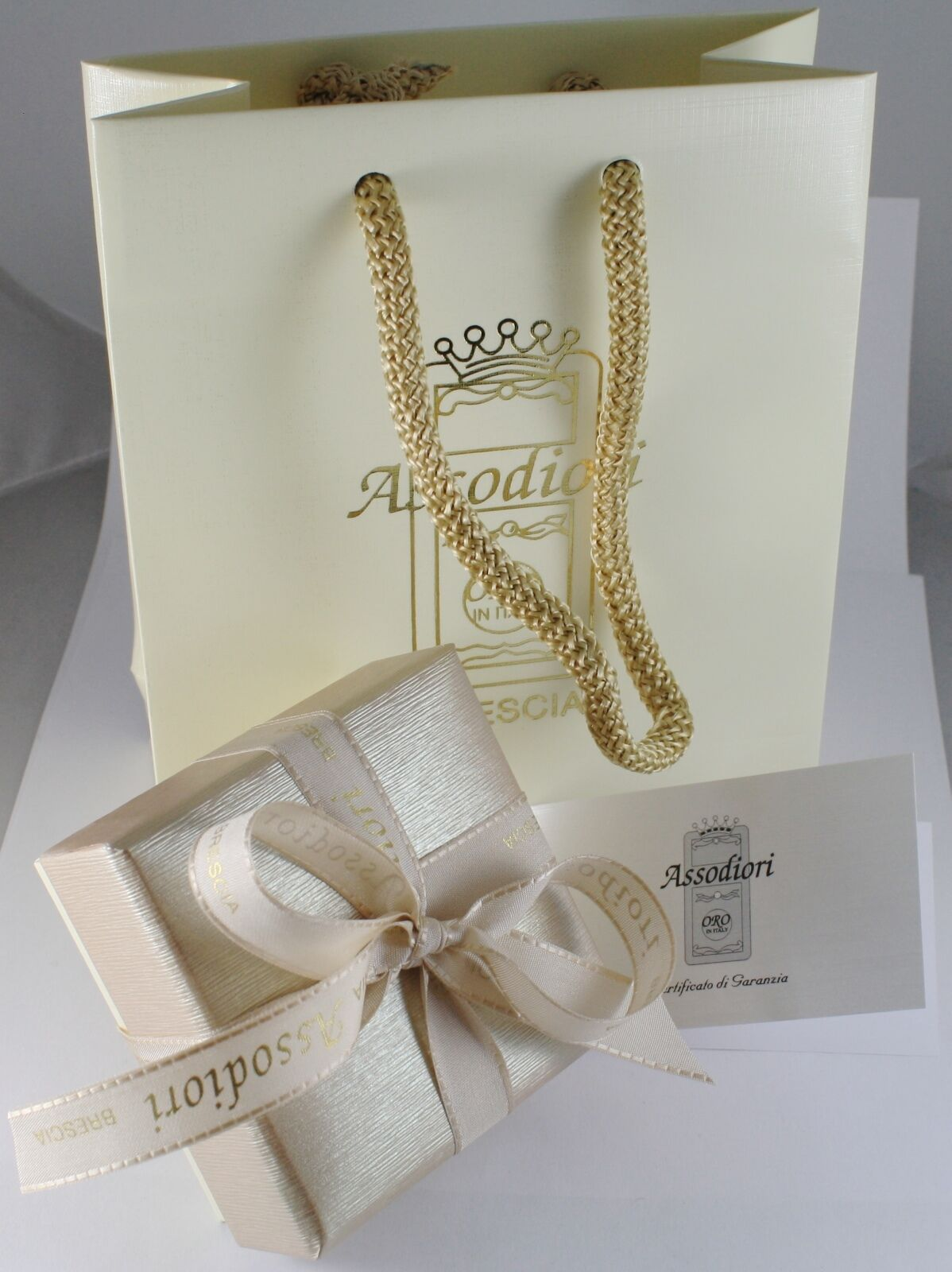 Kette aus Weißgold 750 18K Länge 40 45 50 60 cm Rolo Ringe Auflagen 2.5 MM