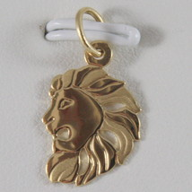 SOLID 18K YELLOW GOLD ZODIAC SIGN PENDANT, ZODIACAL CHARM, SATIN, MADE IN ITALY image 2
