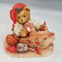 "Ginger ""Painting Your Holidays With Love"" ENESCO CHERISHED TEDDIES BEAR - $8.00"