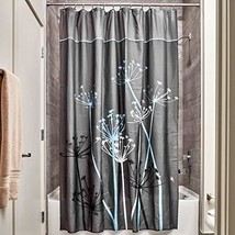 iDesign InterDesign Thistle Wide Fabric Shower Curtain for Master, Guest... - $18.66