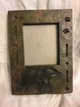 Big Sky Carvers Picture frame Stone Like Bear Paw Prints Tribal - £14.22 GBP