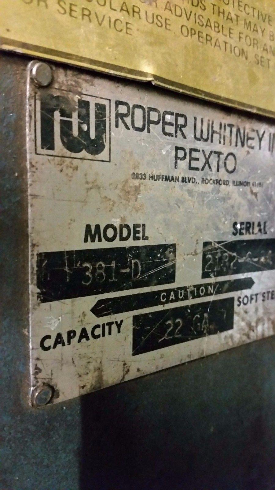 """ROPER WHITNEY PEXTO 36"""" SHEET METAL ROLLER 381-D"""