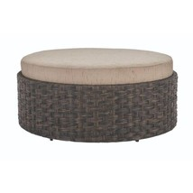 Sunset Point Brown Outdoor Patio Ottoman with Sand Cushion - £463.65 GBP