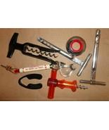 Lot of bar items wine collar corkscrews foil cutter pour spout - $18.00