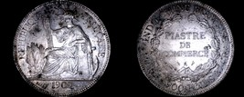 1909-A French Indo-China 1 Piastre World Silver Coin - Vietnam - $149.99