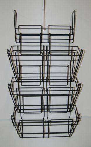 Safco 4151CH Panel Mate Triple File Baskets Charcoal Metal