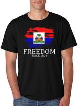 Men's T Shirt Haiti Freedom Since 1804 Haitian Shirt Love Haiti Gift - $17.94+