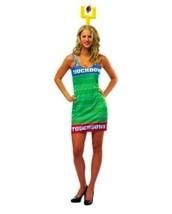 NEW TOUCH DOWN FOOTBALL SPORT TANK DRESS WOMAN HALLOWEEN COSTUME W/GOAL ... - $14.99