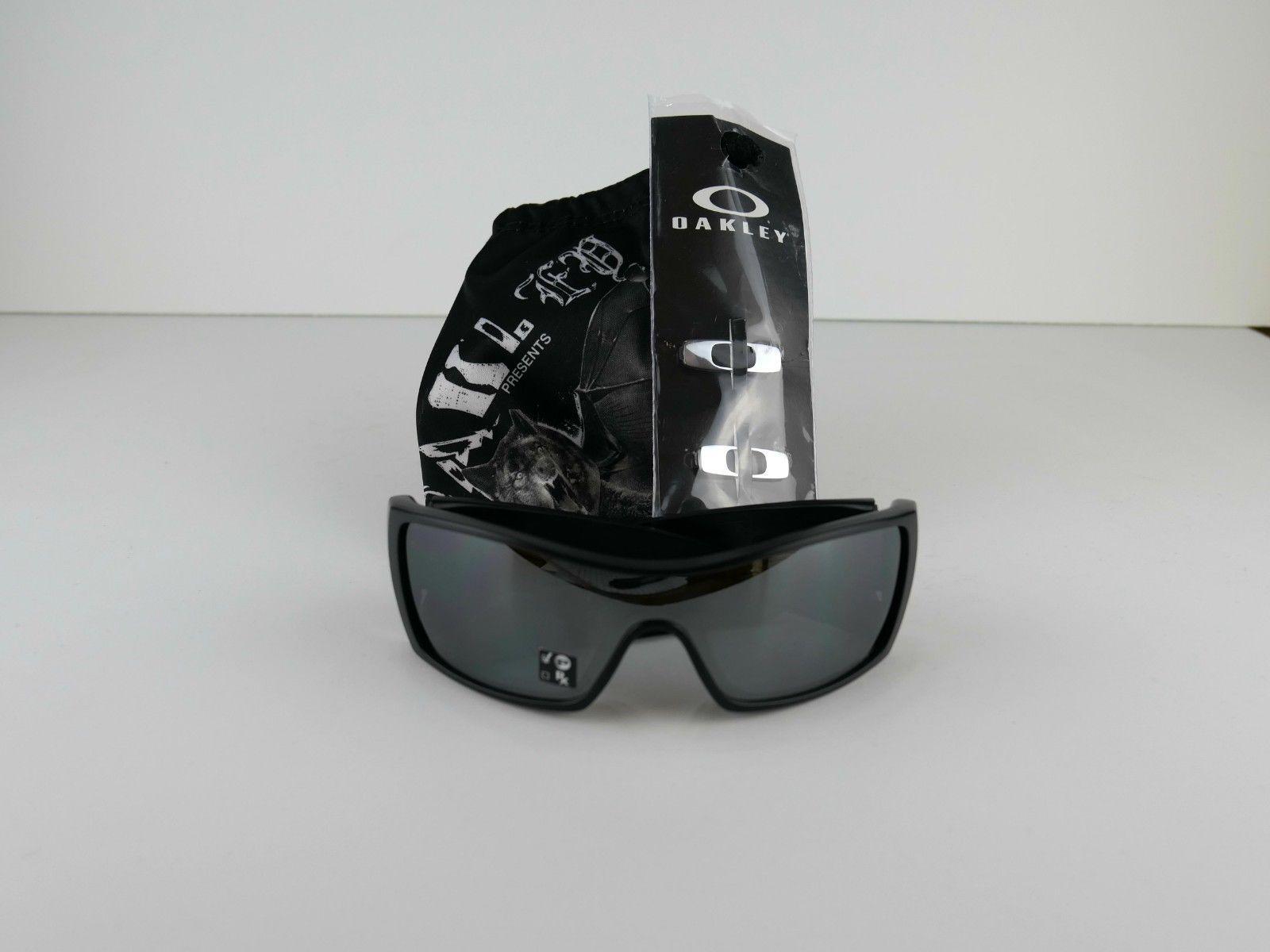 cadf406934 57. 57. Previous. Oakley Bat Wolf 009101-35 Matte Black Polarized Iridium  Sunglass Eyeglass